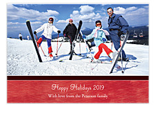 Brushed Red Christmas Photo Cards