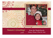 Kaleidoscope Photo Christmas Cards