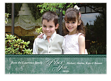 Peace & Joy Photo Christmas Cards