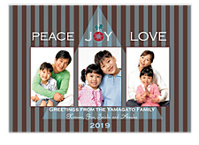 Peace Joy Love Photo Holiday Cards
