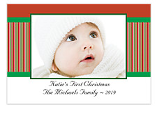 Christmas Stripe Christmas Photo Cards