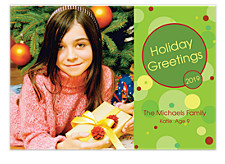 Bubble Surprise Holiday Photo Cards
