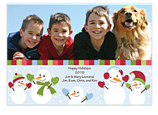 Snowmen Christmas Photo Cards