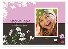 Cornflower Pink Christmas Photo Cards