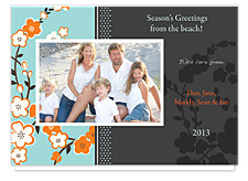 Tangy Blue Christmas Photo Cards
