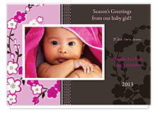 Tangy Pink Christmas Photo Cards