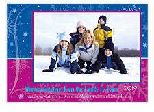 Snowflake Splash Photo Christmas Cards