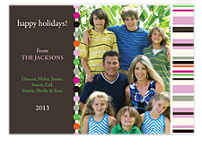 Casual Pink Photo Holiday Cards