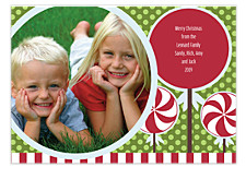 Peppermint One Holiday Photo Cards