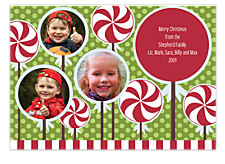 Peppermint Three Christmas Photo Cards