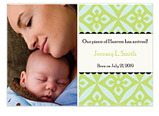 Intrigue Photo Birth Announcement Cards