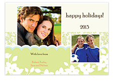 Bouquet Photo Holiday Cards