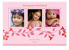 Blush Three Christmas Photo Cards