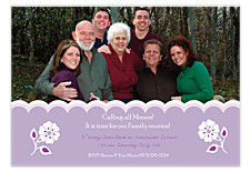 Dusty Lavender Party Photo Invitation Cards