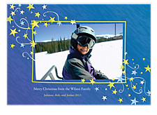 Star Swirls Photo Christmas Cards