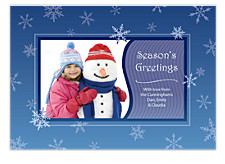 Falling Snowflakes Christmas Photo Cards