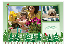 Tree Line Photo Christmas Cards