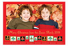 Stamped Photo Christmas Cards