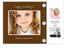 Scrapbook Holiday Photo Cards