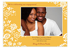 Golden Moments Party Photo Invitation Cards