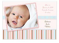 Baby Blocks Photo Birth Announcement Cards