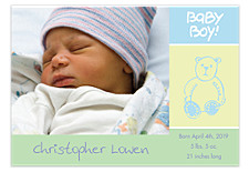 Baby Boy! Photo Birth Announcement Cards