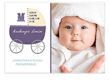Baby Carriage Birth Announcement Photo Cards