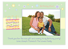 Birthday Star Photo Thank You Cards