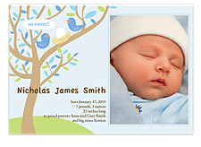So Sweet Blue Photo Birth Announcement Cards