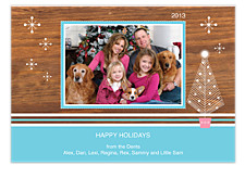 Blue Heaven Photo Holiday Cards