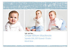 Scribbles Horizontal Photo Birth Announcement Cards