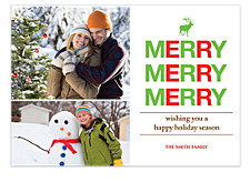 Merry, Merry Photo Christmas Cards