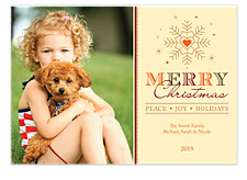 Holiday Love Photo Christmas Cards