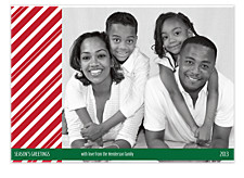 Candy Stripe Photo Christmas Cards