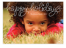 Shimmering Stars Holiday Photo Cards