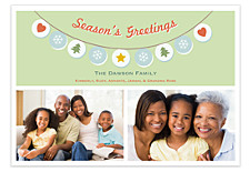 String of Ornaments Photo Holiday Cards