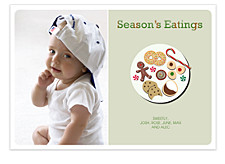 Season's Eatings Christmas Photo Cards