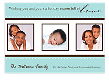 Bay Blue Christmas Photo Cards
