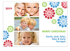 Twirlling Flakes Christmas Photo Cards