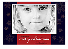 Snowflake Christmas Photo Cards
