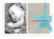 Welcome Baby Boy Photo Birth Announcement Cards