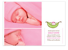 Little Pea Pod Birth Announcement Cards
