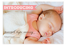 Presenting Birth Announcement Photo Cards