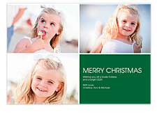 Geometric Square Right Bottom Christmas Cards