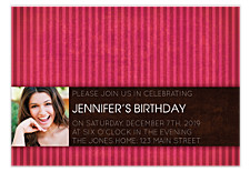 Two Toned Invite Adult Birthday Party Invitations