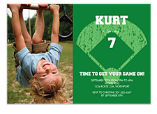 Baseball Invite Photo Kid Party Invitations