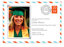 Post Card Graduation Invitation Photo Cards