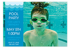 Splashing Good Time Kids Party Invitations