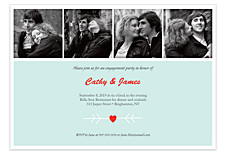 Red Heart Engagement Adult Party Invitations
