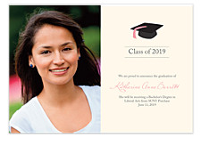 Graduation Cap Announcement Cards